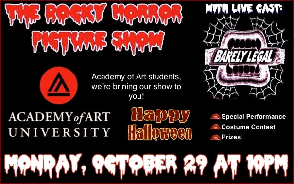 Rocky Horror Picture Show with Barely Legal at the Academy of Art