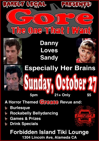 Horror Themed Grease Revue