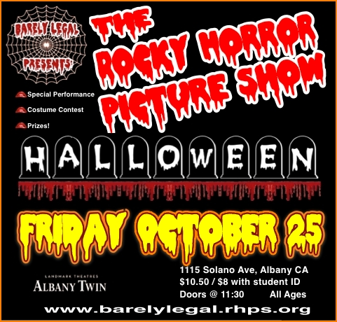Rocky Horror Halloween Show in Albany, CA