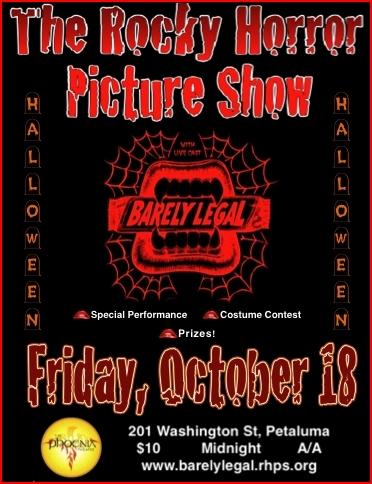 Rocky Horror Halloween Show in Petaluma, CA